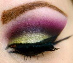 green & purple eyeshadow :)