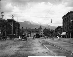 Antlers Hotel - 1890  Streetcars and Livery Stables....