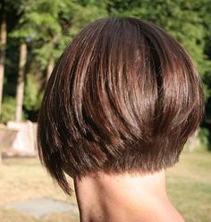 inverted bob | The inverted bob style above is tapered at neck and then left hanging ...
