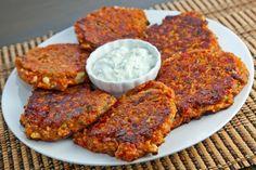 Ntomatokeftedes (Greek Tomato and Feta Fritters)