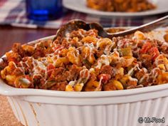 American Goulash - This all-American dish is a comfort food favorite all year long. We love the mix of veggies, pasta, cheese, and ground beef; it's the perfect blend of flavors!