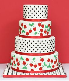 cherry wedding cake