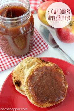 Slow Cooker Apple Butter Recipe. Perfect for our toast and muffins this fall. YUM!