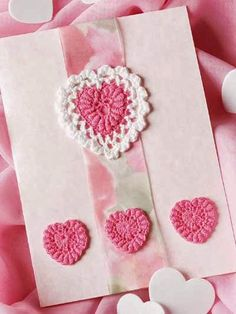Free Crochet Pattern: Perfect Pink Valentine Card