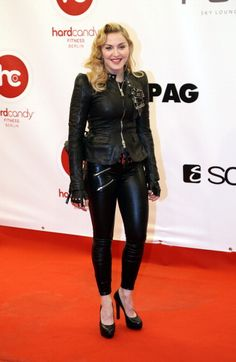 Madonna channeled old school glamour at a Berlin Gym opening. Hair by Andy Lecompte.