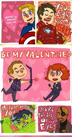 The Avengers Valentines