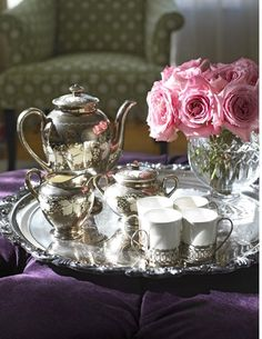 Tea the way it used to be - silver tea set