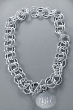 double link necklace with large charm