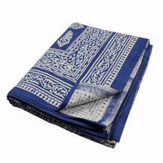 Indische Weihnachten Handarbeit Baumwoll bettücher mit Blockdruck 218 cm x 264 cm: Amazon.de: Küche & Haushalt