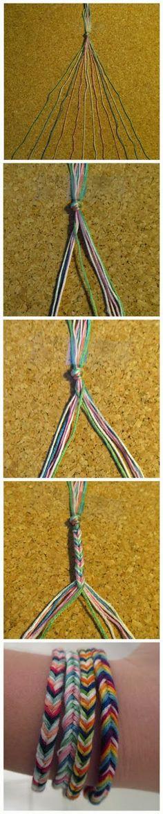 How to make a fishtail friendship bracelet