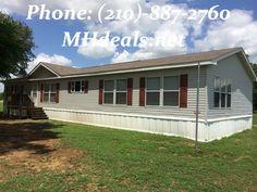 (210)-887-2760 2006 3 bed 2 bath Clayton Rio Liber Doublewide on .75 acres of land in Pleasanton, TX  $99,900 LIC#36155