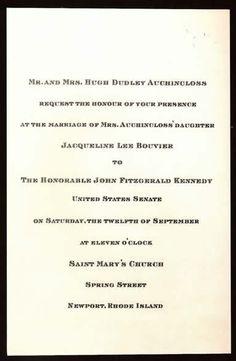 Wedding Invitation for Jack and Jackie.