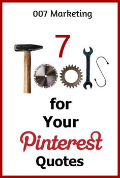7 Tools for Your Pinterest Quotes Learn how to create beautiful quotes #JoinThePinterestParty