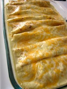 Honey-Lime Chicken Enchiladas--SO GOOD