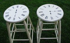 Clock stools!