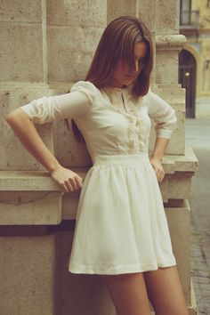 Fall white dress
