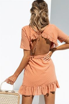 Peach Alize Dress #S