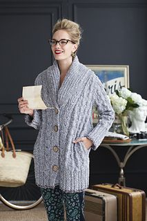 knit cardigan pattern by Deborah Newton 0 in Vogue Knitting Holiday 2013