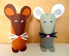 Crafts from toilet paper rolls. Books to go with the characters