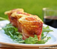 Pastelitos de puerro y bacon