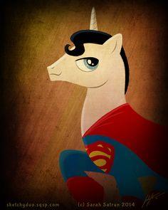 #fanart #superman #mashup #pony #mylittlepony #drawing #illustration #art