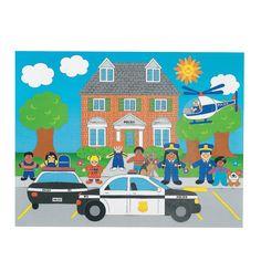 Party favor idea - 12 Design Your Own! Police Sticker Scenes - OrientalTrading.com