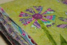 A reverse applique journal cover that is simple and fun.