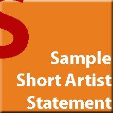 © GYST Ink. Sample Short Artist Statements