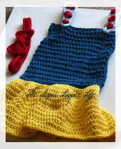 12 Month Size Snow White Dress - Free Crochet Pattern - Princess - Disney