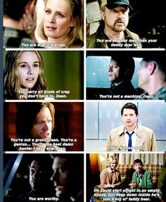 Dean Winchester, the righteous man, described by others.
