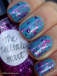 Glitter nails. #nails #glitter #prom #IPAProm #Prom360
