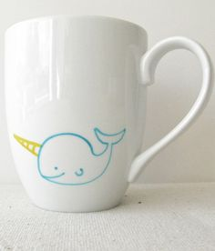 Because who DOESN'T want a narwhal coffee mug?-great teacher gift