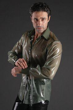 Latex shirt - Simon O fashion latex, latex cloth, latex fashion, men latex