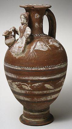 Terracotta jug  Period: Cypro-Classical II Date: ca. 400–323 B.C. Culture: Cypriot Medium: Terracotta