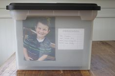 organizing kids school papers + memorabilia
