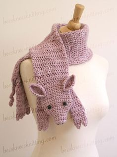 Free Crochet Patterns For Animal Scarves : CROCHET/KNIT ANIMAL HATS on Pinterest Hat Patterns, Fox ...