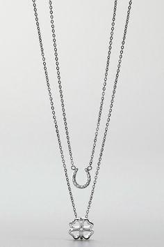 Horseshoe & Clover Necklace