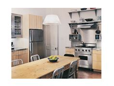 Messana O'Rorke Townhouse Kitchen, Remodelista Pine table