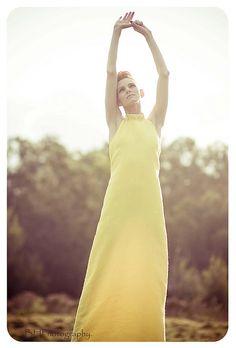 yellow dress.