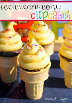 These Ice Cream Cone Cupcakes are so cute for Birthday Parties!!