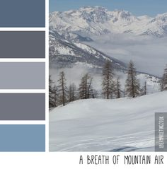 A breath of mountain air - colour palette by ubermarketing.co.uk #colourpalette #colour #colourideas #color #design #palette #ubermarketing.co.uk