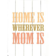 I pinned this Mom Wall Art from the Laundry Room Refresh event at Joss and Main!