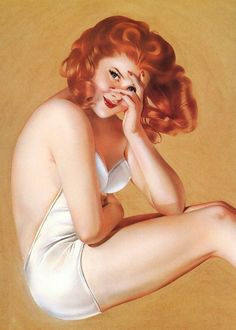 red-head pin-up