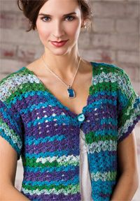 Free crochet pattern for Gulf Coast Shrug