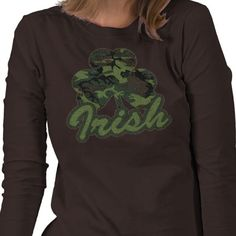 I think this is a cool t-shirt. A bit of military and Irish pride going on. Very creative and great for St. Patrick's Day.