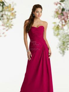 Raspberry bridesmaid dress