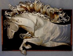 metal art horses
