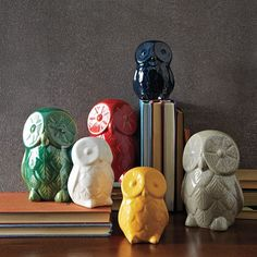 St. Jude® Ceramic Owls by westelm:  Five dollars of the purchase price will go to St. Jude Children's Research Hospital. #Owl #Figurine #St_Jude