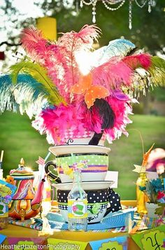 Mad Hatter tea party centerpiece