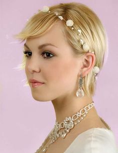 10 Fabulous Bridal Hairstyles for Short Hair - Styling with Fancy